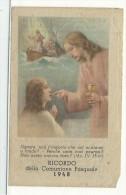 DIS404 - SANTINO HOLY CARD - PIEGHEVOLE - COMUNIONE PASQUALE 1948 - Santini