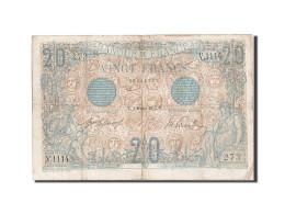 [#205237] 20 Francs Type Bleu, 01 Février 1912, Fayette 10.2 - 1871-1952 Antichi Franchi Circolanti Nel XX Secolo