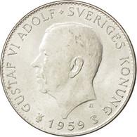 Suède, Gustaf VI, 5 Kronor 1959, 150 Ans Constitution, KM 846 - Suède