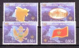 Montenegro 2005 Y First Series Crests Flags Symbols Mi No 100-03 MNH - Montenegro