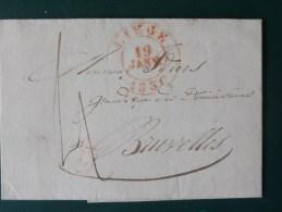 51/149   LETTRE AVEC  CONTENU DE LIEGE POUR BRUXELLES  1836 - 1830-1849 (Belgique Indépendante)
