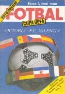 Victoria Bucuresti - F.C. Valencia - 27.09.1989 - UEFA Cup - Game Program - Brochure 24 Pages - Books
