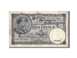 [#305980] Belgique, 5 Francs Type Albert Et Elisabeth - [ 2] 1831-... : Belgian Kingdom