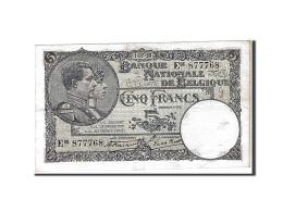 [#111119] Belgique, 5 Francs Type 1922-26 - 5 Francs