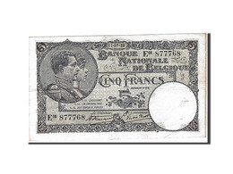 [#111119] Belgique, 5 Francs Type 1922-26 - [ 2] 1831-... : Regno Del Belgio