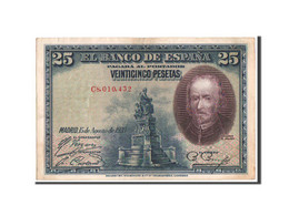 Espagne, 25 Pesetas Type 1928, Pick 74b - [ 1] …-1931 : Eerste Biljeten (Banco De España)