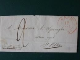 51/153  LETTRE AVEC CONTENU DE GAND POUR ST. GILLIE  OBL.  VERSO ST. NICOLAS - 1830-1849 (Belgique Indépendante)