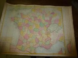 1827 Carte Du ROYAUME De FRANCE D'après Le Traité De Paix De Paris ,Revue Et Corrigée Par Hérisson, Grav. Tardieu - Geographical Maps