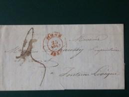 51/155  LETTRE AVEC CONTENU DE MONS POUR FONTAINE L´EVEQUE  1838 - 1830-1849 (Belgique Indépendante)