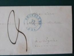 51/158  LETTRE AVEC CONTENU BRUXELLES POUR SOIGNIES  1839 - 1830-1849 (Belgique Indépendante)