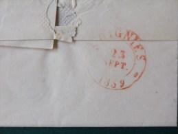 51/159  LETTRE AVEC CONTENU DE ANVERS POUR LONDRES  1841  + PP EN ROUGE - 1830-1849 (Belgique Indépendante)
