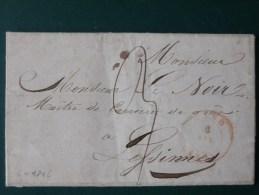 51/165  LETTRE DE GAND   POUR LESSINES 1845 - 1830-1849 (Belgique Indépendante)
