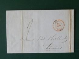 51/168  LETTRE DE GAND   POUR LONDRES   1846 - 1830-1849 (Belgique Indépendante)