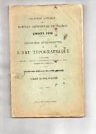 87 - LIMOGES - 5E CONGRES DES MAITRES IMPRIMEURS DE FRANCE - 1898- ART TYPOGRAPHIQUE- IMPRIMERIE- RARE - Limousin