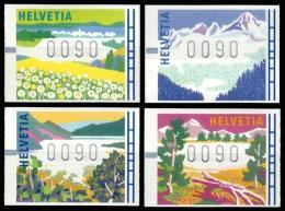 DISTRIBUTEURS  LES 4 SAISONS, PAYSAGES TYPIQUE  1996 - Automatenzegels