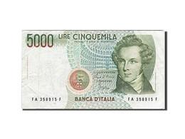 Italie, 5000 Lire, Type V. Bellini - [ 2] 1946-… : République