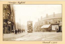 Postcard Nostalgic Sheffield Darnall Tram Terminus C1912 Car 35 Tramcar Hedgerow - Sheffield