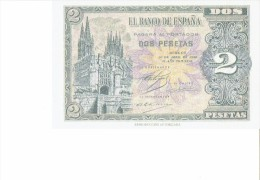 SPAIN 1938 - REPLICA - REPRODUCTION - ARCO S.MARIA - BURGOS CATHEDRAL - PAPER BILL 2 PESETAS ISSUED APR 30,1938  - PERFE - [ 8] Falsi & Saggi