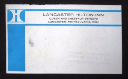 HOTEL MOTEL MOTOR INN LANCASTER PENNSYLVANIA USA UNITED STATES LUGGAGE LABEL ETIQUETTE AUFKLEBER DECAL STICKER - Hotel Labels