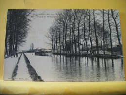 BA108 CPA - LAROCHE-MIGENNES - CANAL DE BOURGOGNE - PENICHE (VOIR SCANS RECTO VERSO) - Hausboote