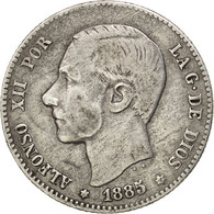 [#29471] Espagne, Alphonse XII, 1 Peseta 1885 (86) Madrid, KM 686 - [ 1] …-1931 : Reino