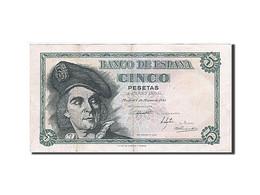 [#257734] Espagne, 5 Pesetas, Type Juan Sebastian Elcano - [ 3] 1936-1975 : Régence De Franco