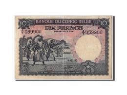 [#306459] Congo Belge, 10 Francs Type 1941-50 - [ 5] Belgian Congo