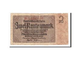 Allemagne, 2 Rentenmark Type 1937 - Banconote