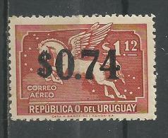 Pégase 74c S 1p 12 Rouge Brun * - Uruguay