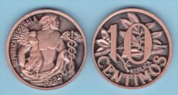 SPAIN/II REPUBLIC  10 CÉNTIMOS 1.937   Cy. Tipo 1a-16725  COBRE SC/UNC   T-DL-10.331 Can. - [ 2] 1931-1939 : République