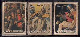 Cook Islands MNH Scott #378-#380 Set Of 3 Easter Paintings By Raphael, El Greco, Caravaggio - Cook
