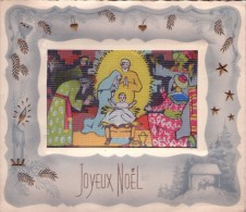 00 - D - JOYEUX NOEL - Crèche - Image Hologramme - Noël