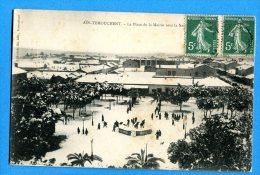 FR745, Aïn Temouchent, La Place De La Mairie Sous La Neige, Animée,  Circulée 1908 - Algerien