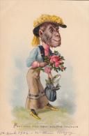ILLUSTRATEUR / SINGE HABILLE / POUR VOUS MON COEUR SOUFFRE TOUJOURS - 1900-1949