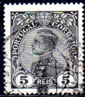 PORTUGAL 1910 King Manoel II  -  5r. - Black FU - 1910-... Republic