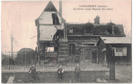 RARE Somme 80 - ROYE La Ferme Louis Bayard En Ruines Animation Enfant Ed. Verdavaine Guerre Ww1 14-18 - Roye