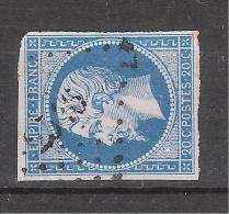 Empire N° 14 Obl Pc  2546 De PORT LOUIS, Morbihan, Indice 5 , TB - 1853-1860 Napoléon III