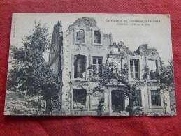MILITARIA - NOMENY   - Guerre 1914-1918 -  L' Hôtel De Ville  -  1921   - (2 Scans) - Nomeny