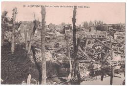 Somme 80 - MONTDIDIER Sur Les Bords De La Rivière Des Trois Doms Ruines Bombardements Guerre Ww1 Maison Arbres - Montdidier