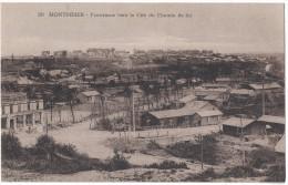 RARE Somme 80 - MONTDIDIER Panorama Vers La Cité Du Chemin De Fer Quartier Industrie ? Entrepots ? Hangar ? Train En Fon - Montdidier