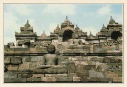 INDONESIA  GIAVA:  TEMPIO  DI  BOROBUDUR       (NUOVA CON DESCRIZIONE DEL SITO SUL RETRO) - Indonesia