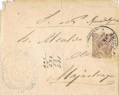 12609. Carta S.N. FUENTELAHIGUERA (Guadalajara) 1891. Marca Oval Alcaldia - Storia Postale