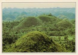 """FILIPPINE  BOHOL:  """"CHOCOLATE  HILLS""""    (NUOVA CON DESCRIZIONE DEL SITO SUL RETRO) - Filippine"""