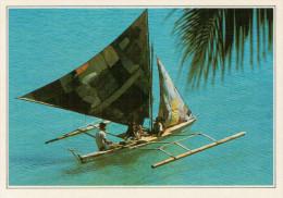 FILIPPINE   ISOLA DI BORACAY:  BANGKA    (NUOVA CON DESCRIZIONE DEL SITO SUL RETRO) - Filippine