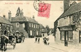 POST CARD ENGLAND BERKSHIRE BULL HOTEL STREATLEY 1909 - Inghilterra