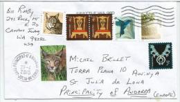 Le Lynx Américain., Sur Lettre Adressée En Andorre, Avec Timbre à Date Arrivée Au Recto Enveloppe - Big Cats (cats Of Prey)