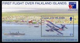 Falkland Islands 1999 Aeroplanes Philexfrance MS, MNH - Falkland
