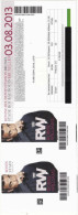 "Robbie Williams 2 Toegangskaarten "" Take The Crown Stadium Tour "" Koning Boudewijn Stadion 2013 - Tickets - Entradas"