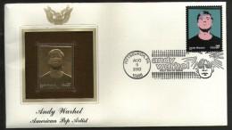 USA 2002 Andy Warhol Pop Artist Music Gold Replicas Cover Sc 3652 # 288 - Musique