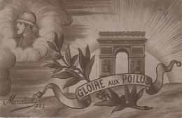 CPA AK Gloire Aux Poilus Mondial 723 Weltkrieg Militaria Militaire Timbre Hondelange Hondelingen Stempel Behelfsstempel - Messancy